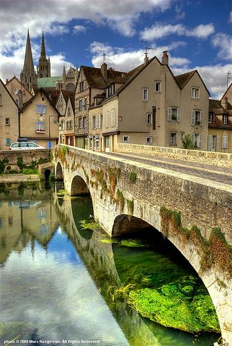 Chartres, France - I had the opportunity to visit this beautiful place when I spent a summer in Tours, France during my junior year in college.  Would love to go back.