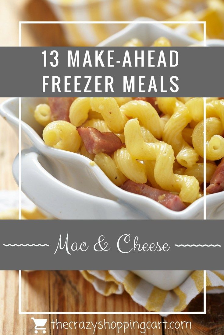 Make a meal for dinner that you can eat right away AND freeze for later!    13 Make-Ahead Freezer Meals   Page 8 of 14   The Crazy Shopping Cart