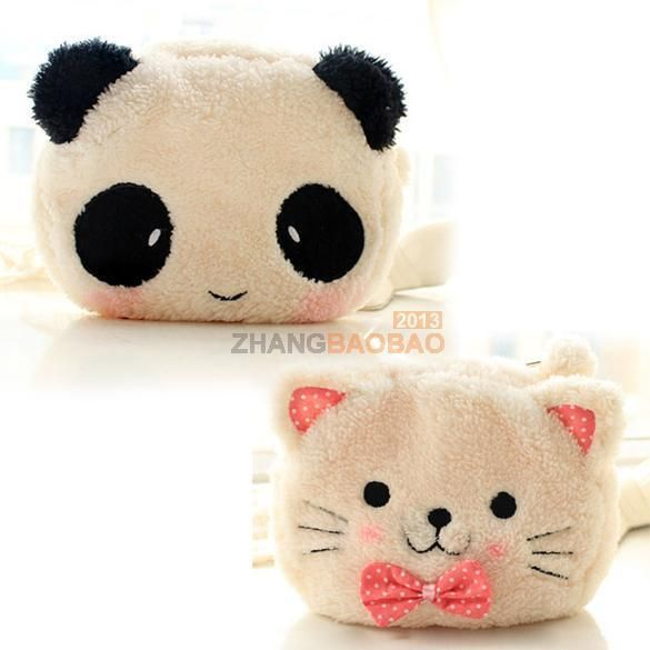 Soft Cute Flannel Cosmetic Makeup Cartoon Cat Storage Bag Pen Pencil Pouch Cases #UnbrandedGeneric