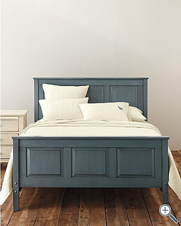 Londonderry Pine Panel Bed in Blue Slate