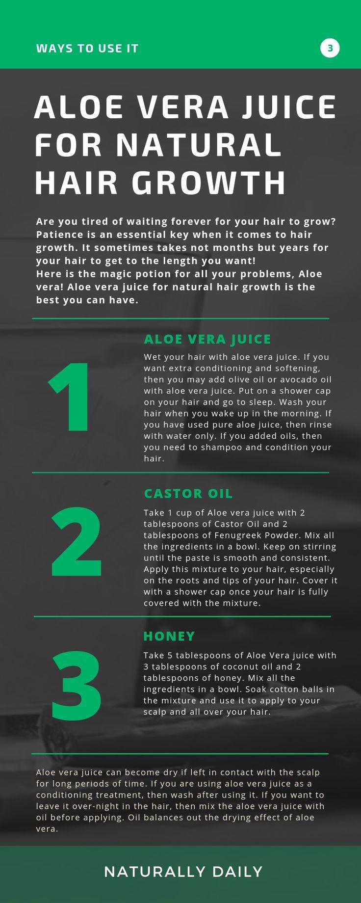 Aloe Vera Juice for Pure Hair Progress