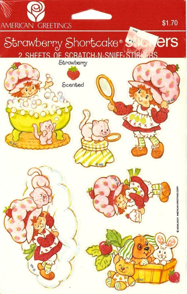 This Strawberry Shortcake Nostalgia Will Make You Berry Happy | Who remembers Scratch N' Sniff stickers? Bring them back! Image via Pinterest
