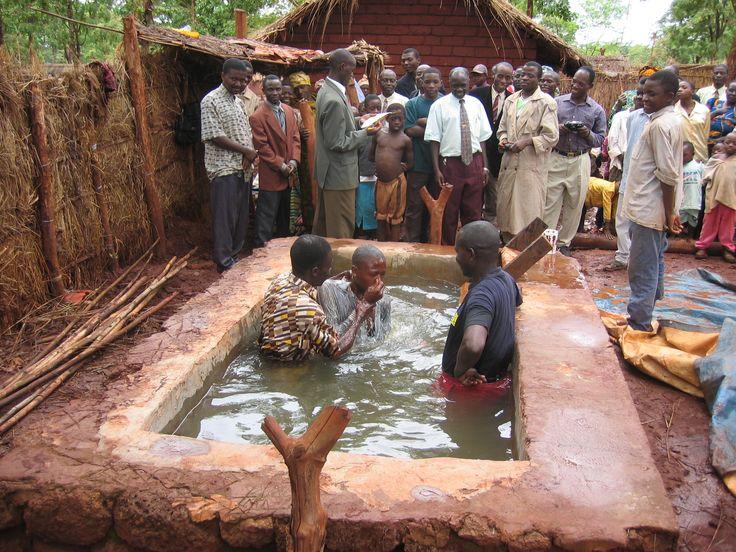 The baptism at the circuit assembly in Nyaragusu  Refugee Camp.  Tanzania