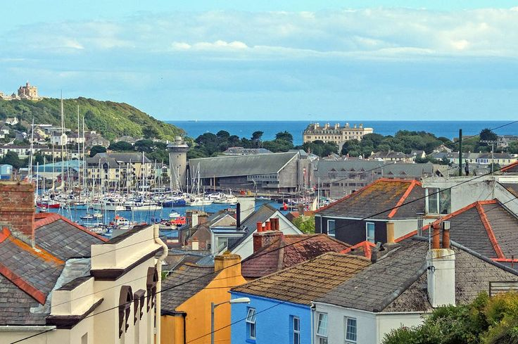 View across Falmouth town and harbour