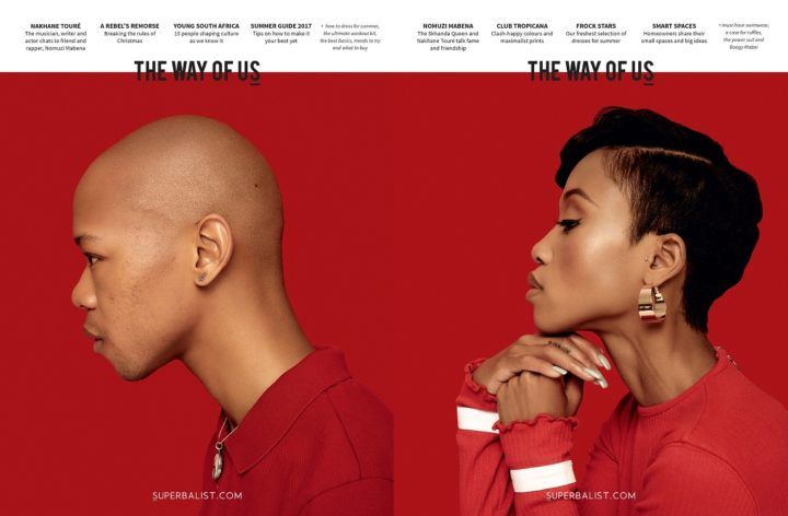 #CoverStories 10 November 2017 — thoughtfulness in design — The Way of US (South Africa), Summer Issue, 2017: Nakhane Touré and Nomuzi Mabena.