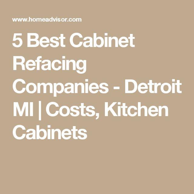 5 Best Cabinet Refacing Companies - Detroit MI | Costs, Kitchen Cabinets
