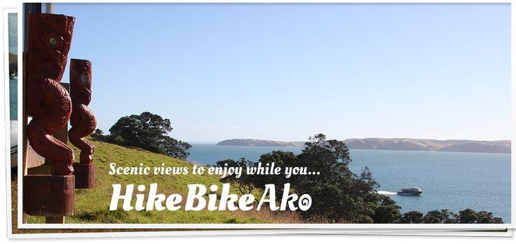 Scenic views while you Hike Bike Ako on Waiheke Island, New Zealand