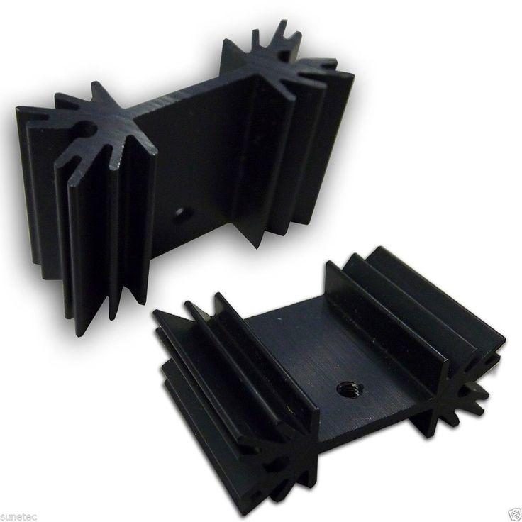 SS116 Aluminum Black Heatsink Heat Sink Audio Amplifier