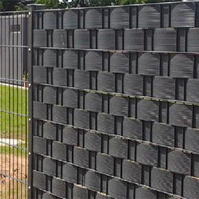 Hekwerken gaashekwerk of dubbestaafmatten zichtdicht met zichtbanden, hoogte 200mm geschikt voor 10m2.