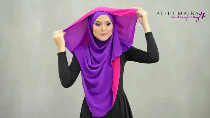 LUJAA shawl styling tutorial by Al-Humaira Contemporary