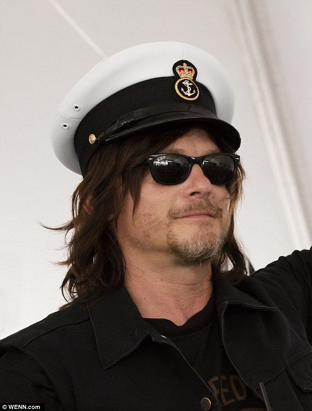 Walking Dead's Norman Reedus parties with Navy and Playboy playmates at Fleet Week | Daily Mail Online