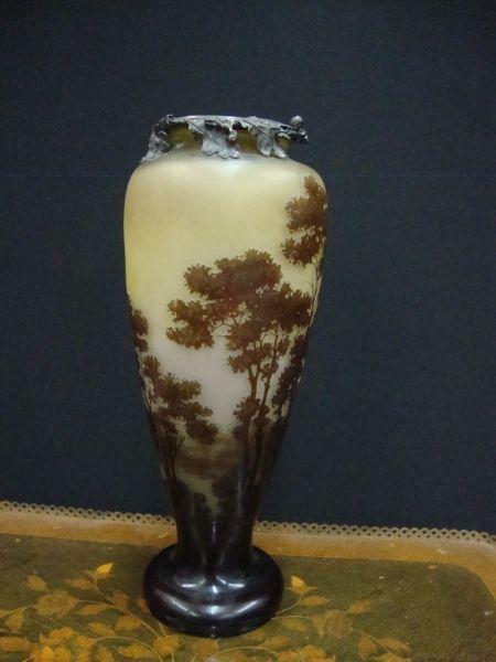 Mile gall vaso em pasta de vidro decorado com paisagens for Vaso galle