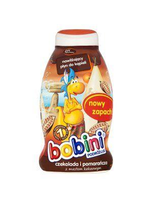 BOBINI 750ml Czekolada i pomarańcza nawilżający płyn do kąpieli dla dzieci powyżej 1r życia