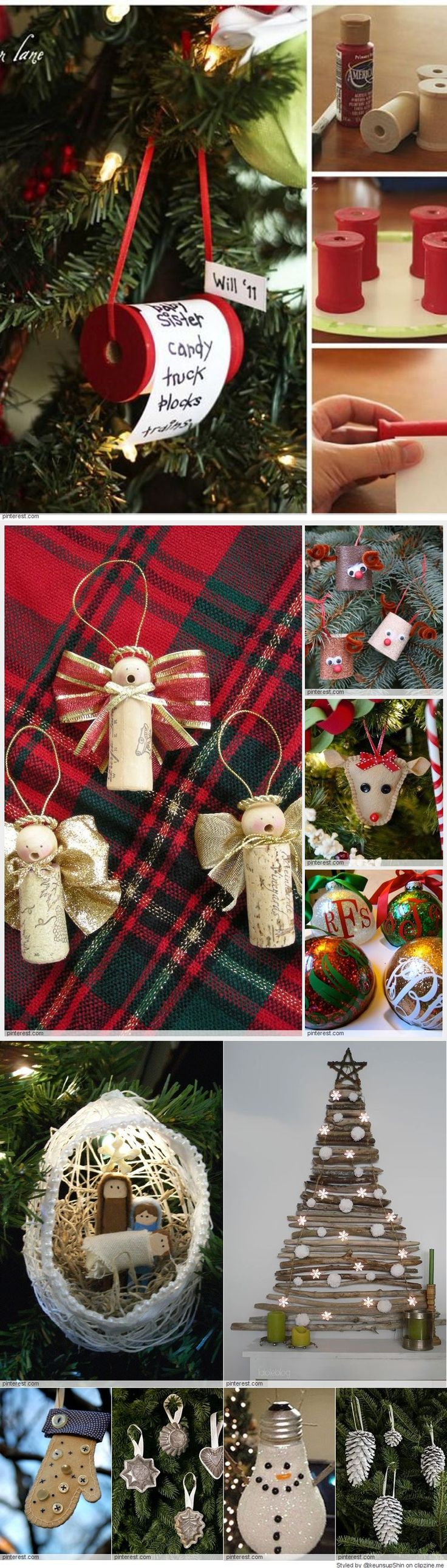 Best 25+ Homemade Christmas Tree Decorations Ideas On Pinterest  Diy Christmas  Ornaments, Christmas Ornaments To Make And Christmas Tree Ornaments