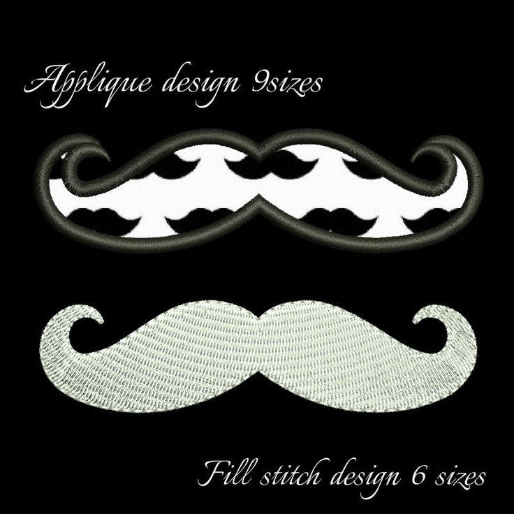 Mustache machine embroidery design, mustache pattern, towel gift instant digital download applique fill stich man boy by GretaembroideryShop on Etsy