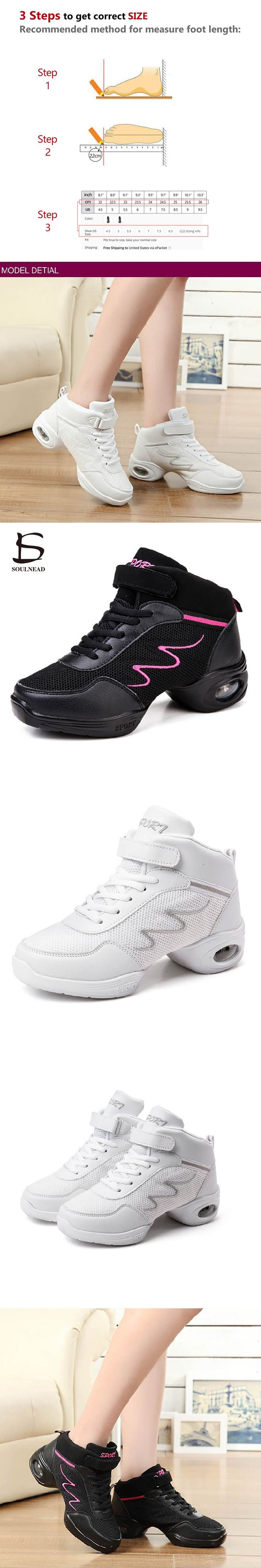 New Sports Air Mesh Soft Outsole Breath Dance Shoes Sneakers For Woman Practice Shoes Modern Dance Jazz Shoes Discount 952