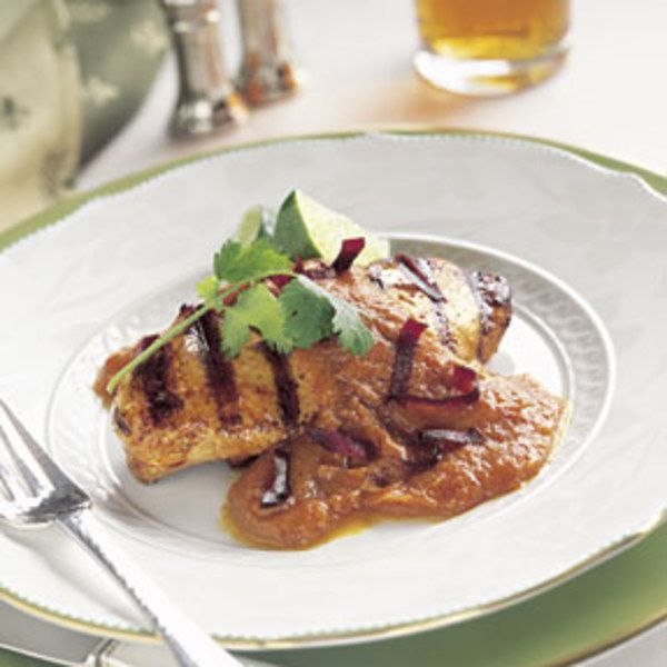 grilled chicken with creamy pumpkin mole sauce canned pumpkin pumpkin ...