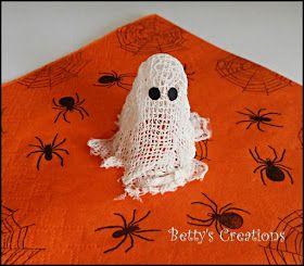 Bettys-creations: Mini-Mullbinden-Geisterchen