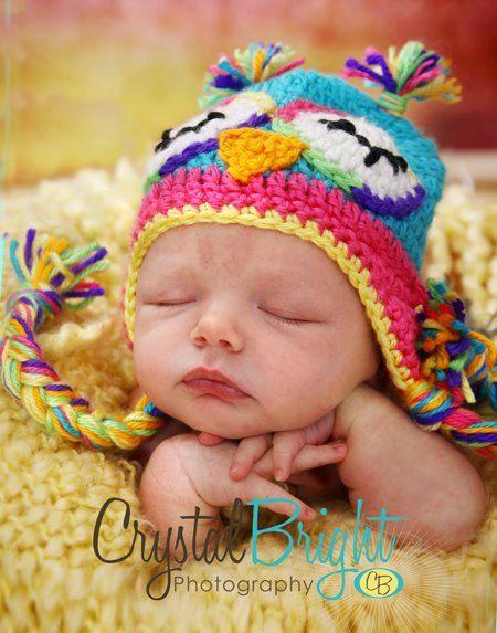 so sweet: Crochet Rainbows Owl Hats, Crochet Hats, Crochet Baby Owl Hats, Crocheted Hats, Baby Girls, Owl Crochet, Photos Props, Adorable Hats, Cutest Hats