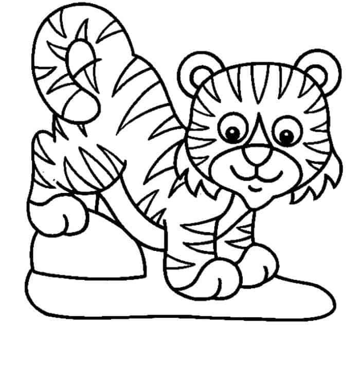 Tiger Coloring Pages For Preschool Giraffe Coloring Pages Animal Coloring Pages Coloring Pages For Kids