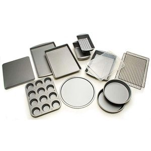 I need to think about getting this cheap pan set. BakerEze 12-Piece Bakeware Set