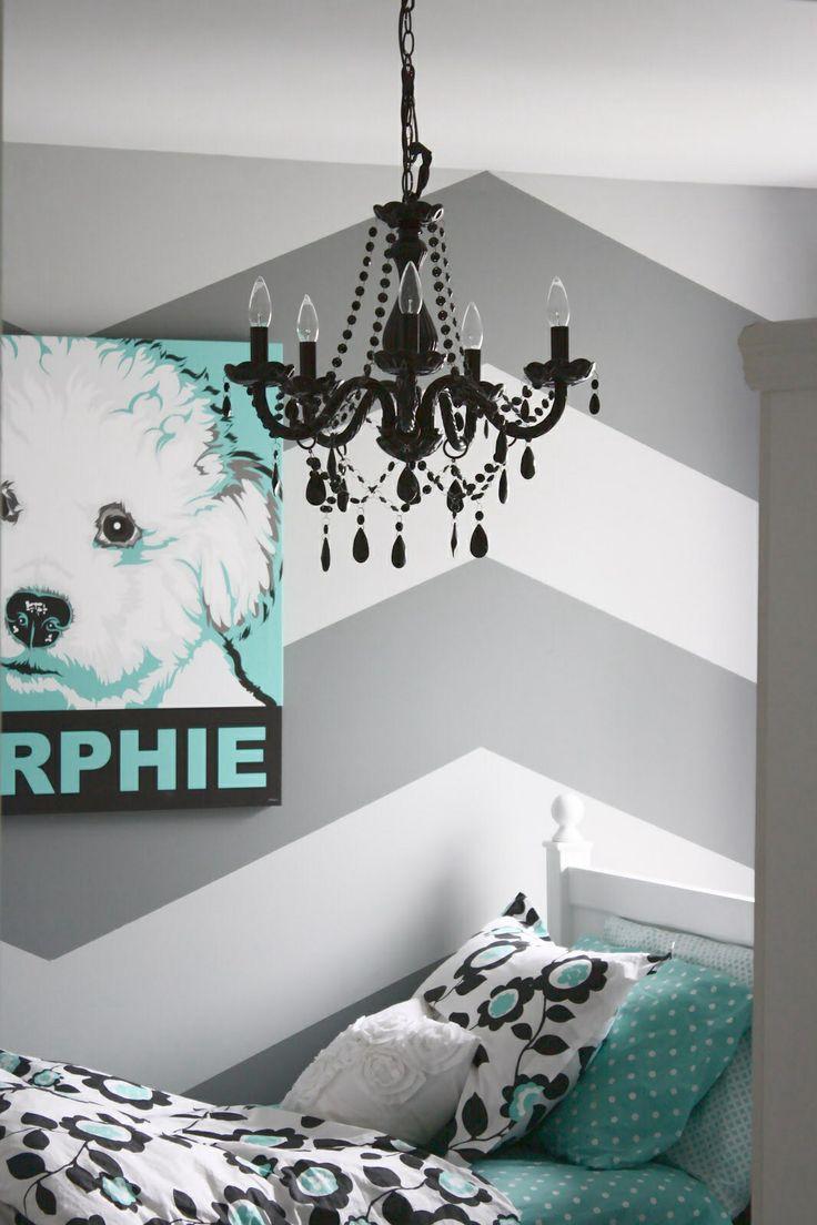 Turquoise Chevron bedroom