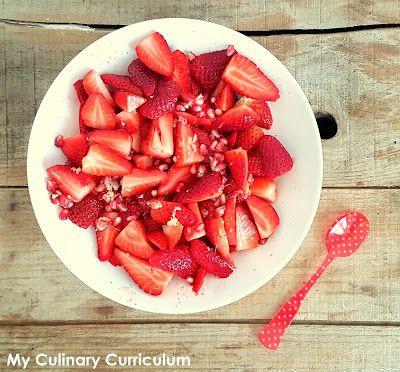 My Culinary Curriculum: Salade de fraises à la grenade (Strawberry salad w...