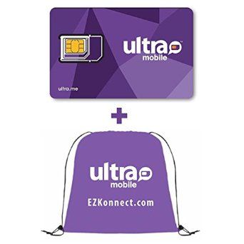 Ultra Mobile SIM card for Unlocked GSM Phones with Drawstring Bag, 2016 Amazon Hot New Releases SIM Cards & Prepaid Minutes  #Wireless