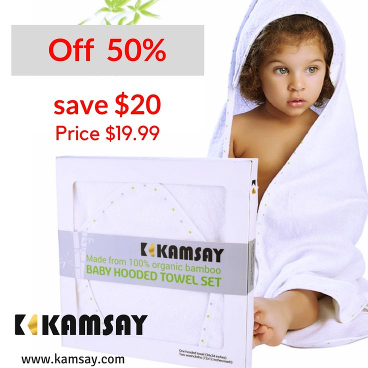 "#baby #babies #adorable #cute #TagsForLikes #cuddly #cuddle #small #lovely #love #instagood #kid #kids #beautiful #life #sleep #sleeping #children #happy #igbabies #childrenphoto #toddler #instababy #infant #young #photooftheday #sweet #tiny #little #family Organic Bamboo Baby Hooded Towel & 2 Washcloths -Large (34""X34"") - 100% Bamboo, Organic, 450 GSM , ULTRA SOFT - Boy & Girl, Infant and Toddler Baby Gift  by KAMSAY…"