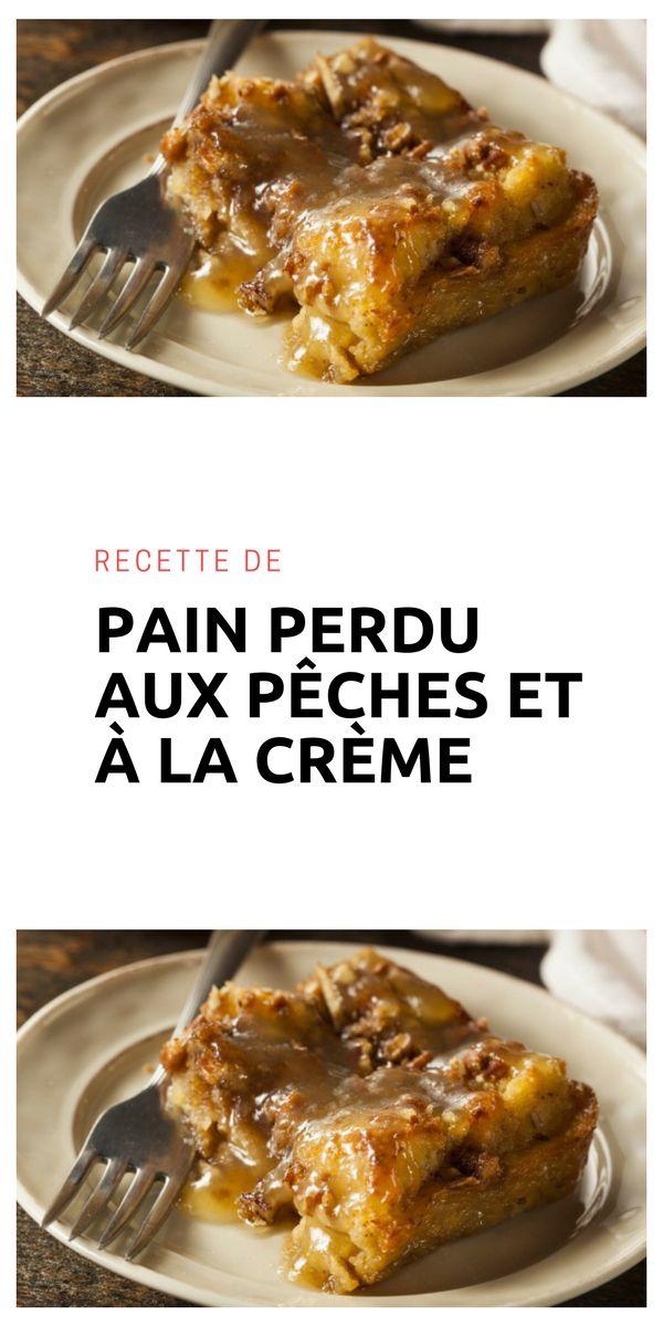 #painperdu #pêche #crème