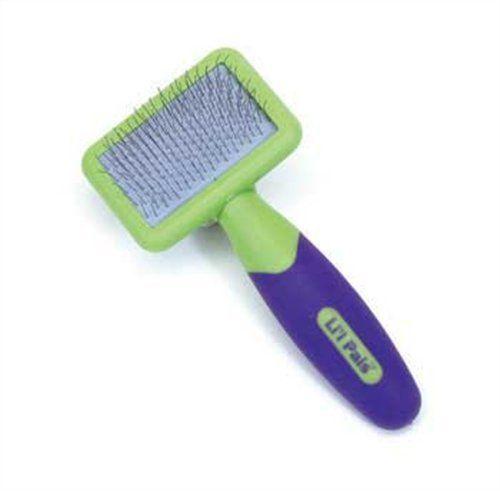 Li'l Pals Slicker Purple and Green Brush for Dogs, Extra Small Li'l Pals http://www.amazon.com/dp/B000O39TE6/ref=cm_sw_r_pi_dp_t2-Ztb160B0ZAMP0