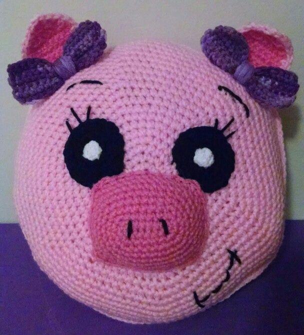 Piggy travel pillow