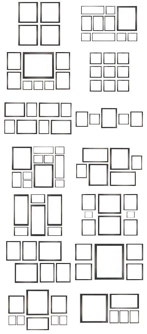 Dispositions différentes pour cadres