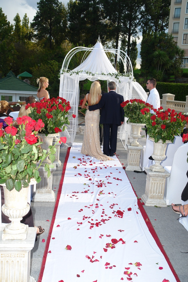 #Wedding ceremony on the Riviera on Vaal's Floating Restaurant, the Petit Verdot.