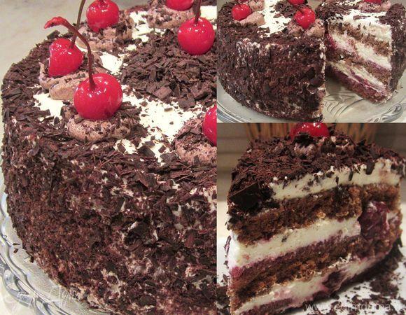 """Шварцвальдский вишневый торт (""""Черный лес"""")"""