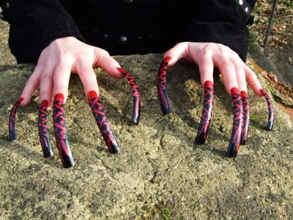 Very long nails | Nails unaltered | Long nails, Long ... - photo#45