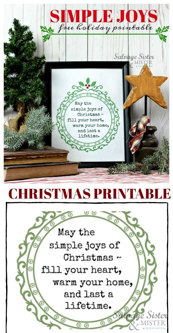 Simple Pleasures Christmas Greeting Rubber Stamp by DRS Designs