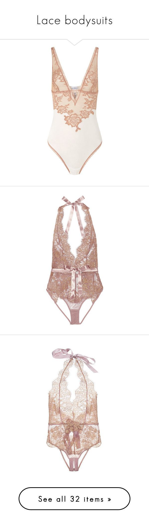"""""""Lace bodysuits"""" by chiaral95 ❤ liked on Polyvore featuring intimates, shapewear, bodysuit, underwear, lingerie, bodysuits, agent provocateur, pink, open back body suit and body suit - cheap intimates online, all about lingerie, silk lingerie *sponsored https://www.pinterest.com/lingerie_yes/ https://www.pinterest.com/explore/intimates/ https://www.pinterest.com/lingerie_yes/plus-size-lingerie/ http://www.adoreme.com/sexy-lingerie.html"""