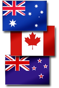 Each European settlement had parliamentary governments. Canada formed a federal system, as well as Australia.  New Zealand kept a parliamentary system. Theses 3 countries remained part of British control and were dependent in its economy. These are the countries' flags today.