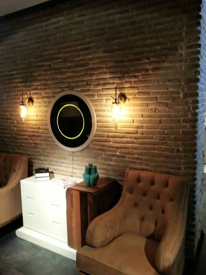 Golden feature wall provided by the Bionde range