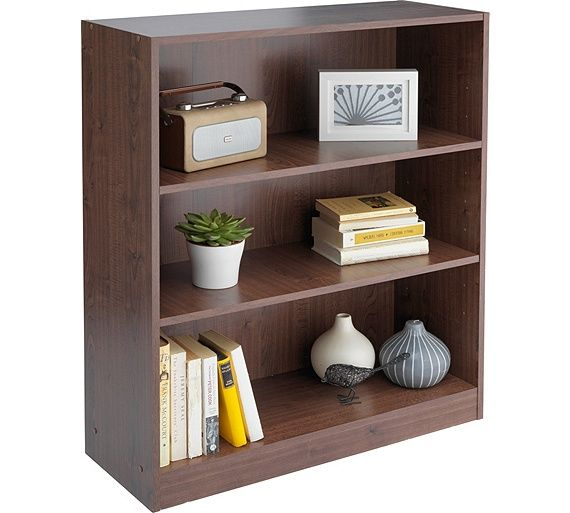 Home Maine Small Extra Deep Bookcase Walnut Effect At Argos Co Uk