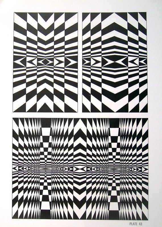 88 best images about op art patterns on pinterest for Geometric illusion art