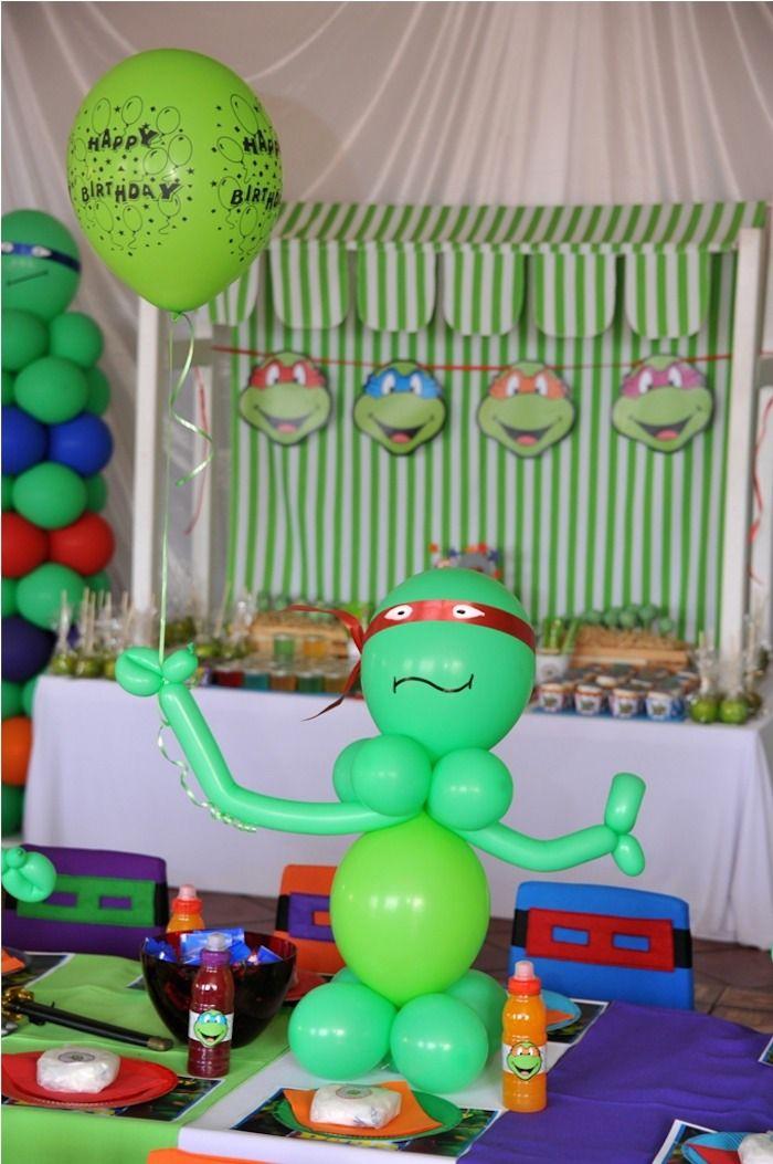 Ninja Turtle themed birthday party via Kara's Party Ideas KarasPartyIdeas.com Printables, cake, invitation, cupcakes, games, and more! #TMNT...