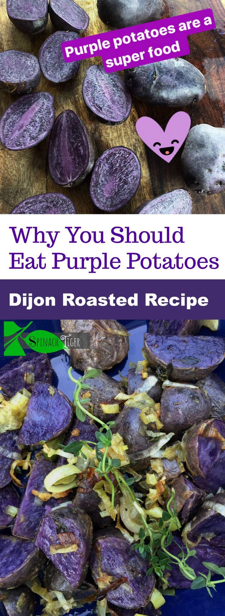 Big Fat Healthy Lemon Dijon Roasted Purple Potatoes - Spinach Tiger