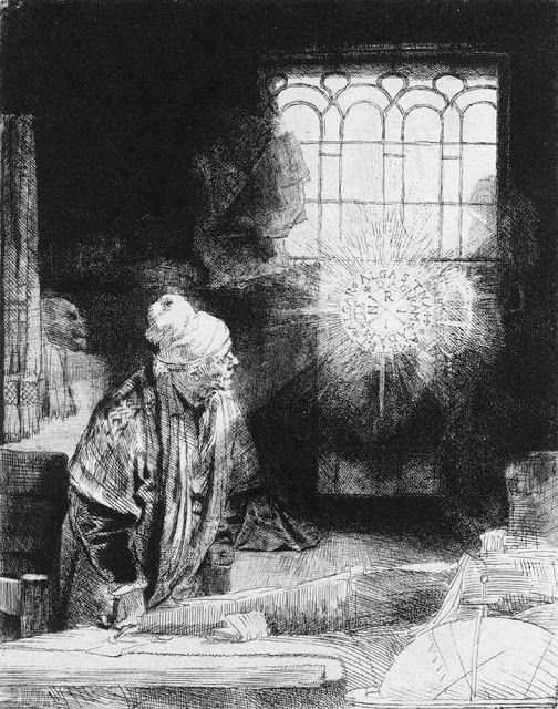 Φάουστ - χαλκογραφία (1652)
