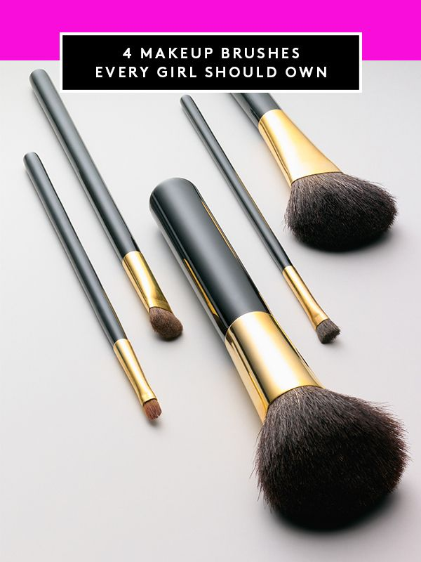 The only 4 makeup brushes you actually need