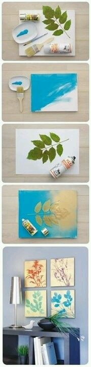 Painted leaves pictures