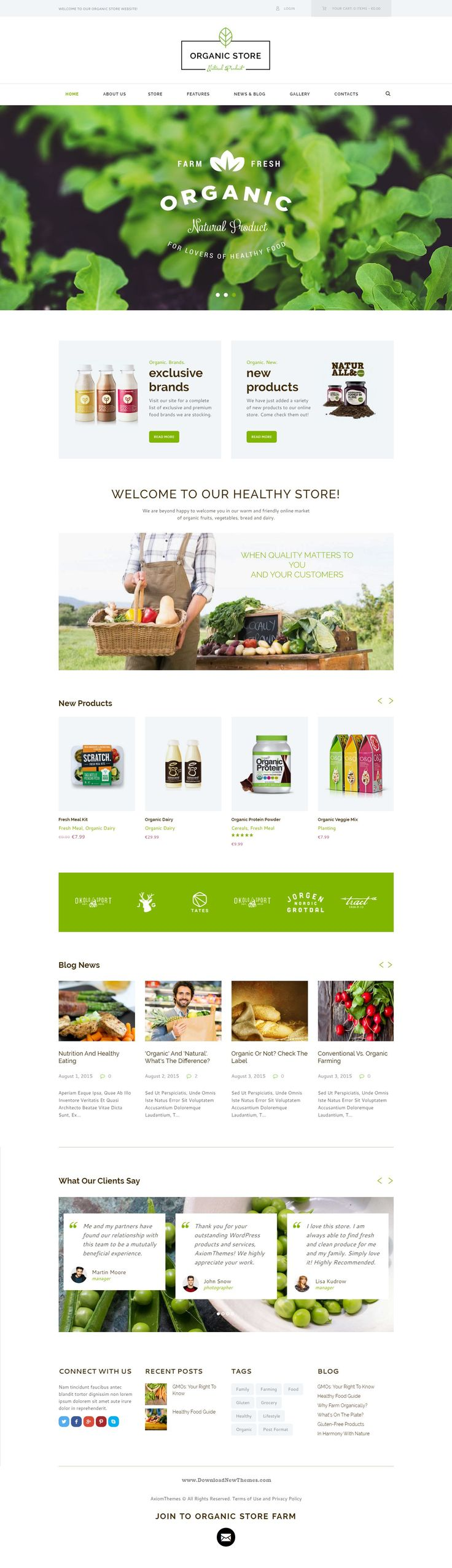 Organic store responsive WordPress Theme is a colorful design perfectly suitable for #agricultural business, agrotourism, healthy food blog, organic food shop, #organic farm, bakery – anything you want! #website