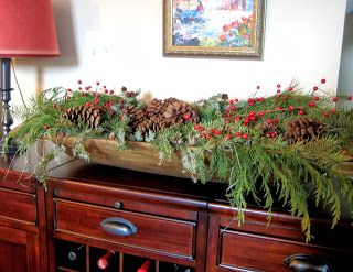 How to decorate a dough bowl for Christmas. Tutorial from Salt Marsh Cottage