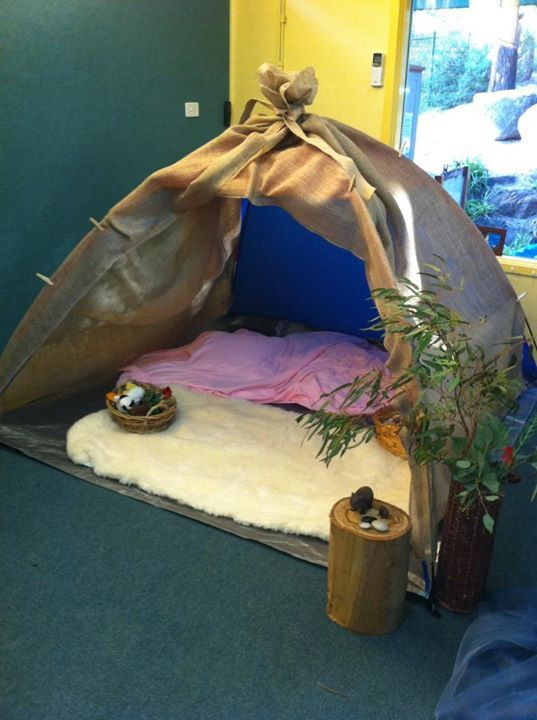 "Lovely little quiet space at Journey into Play Creating ("",)"
